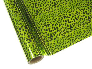 Leopard - Lime Green Foil