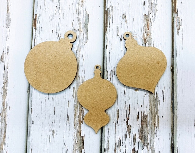 Christmas Ornaments - Wooden Cutouts