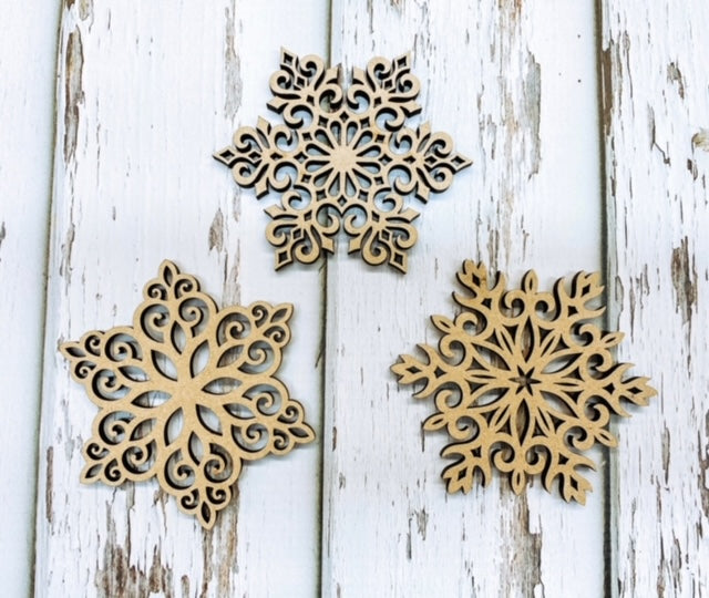 Snowflakes - Wooden Cutout