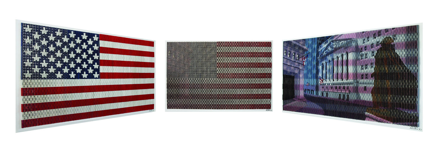 American Flag Series - Stock Exchange Exterior By Antonio Perez Melero