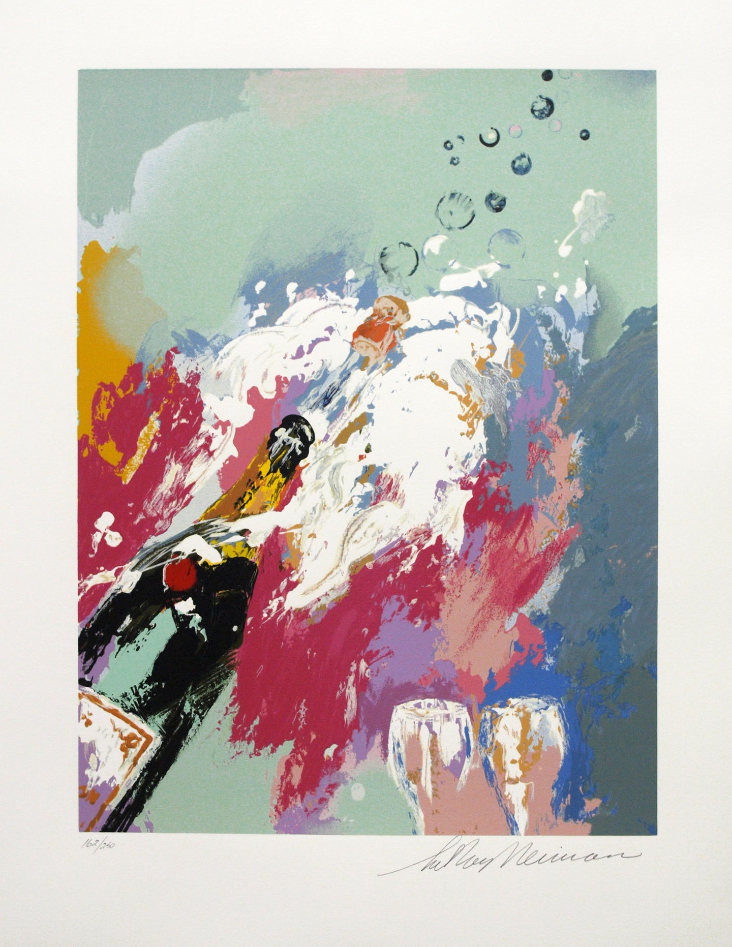 Champagne, New Years Eve By LeRoy Neiman