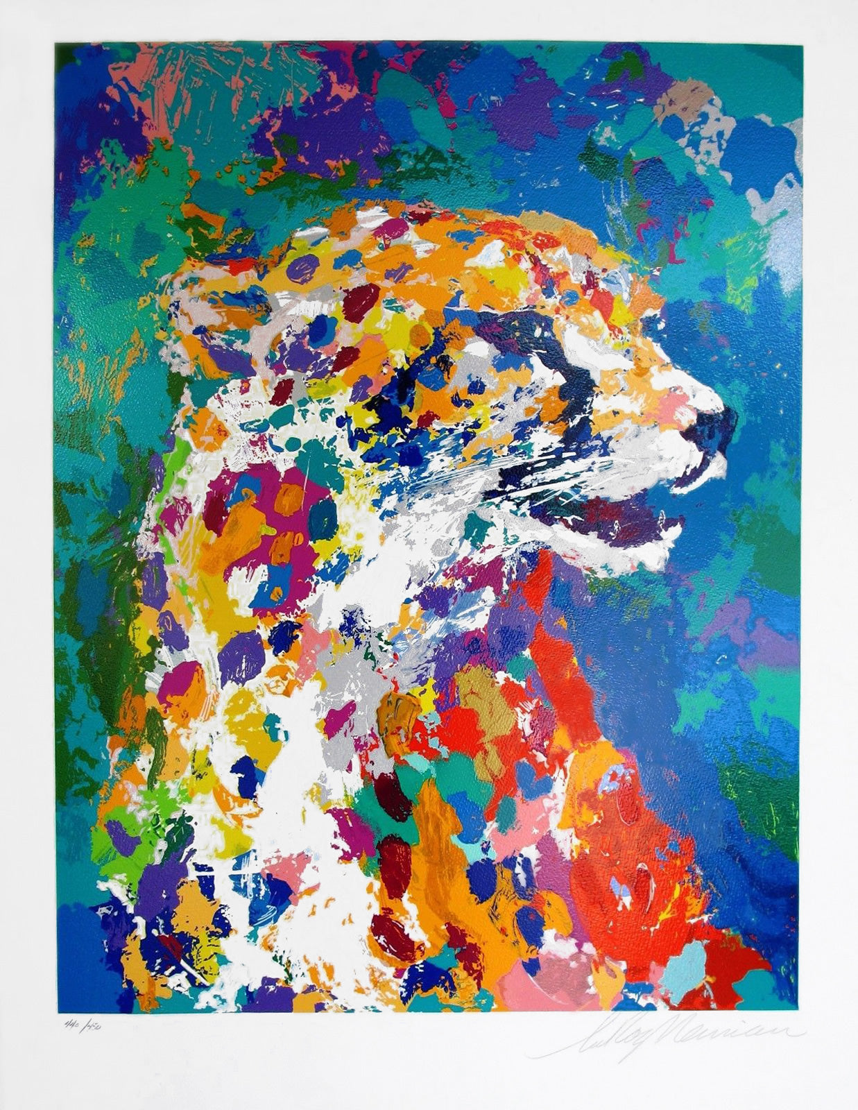Portrait of the Cheetah By LeRoy Neiman