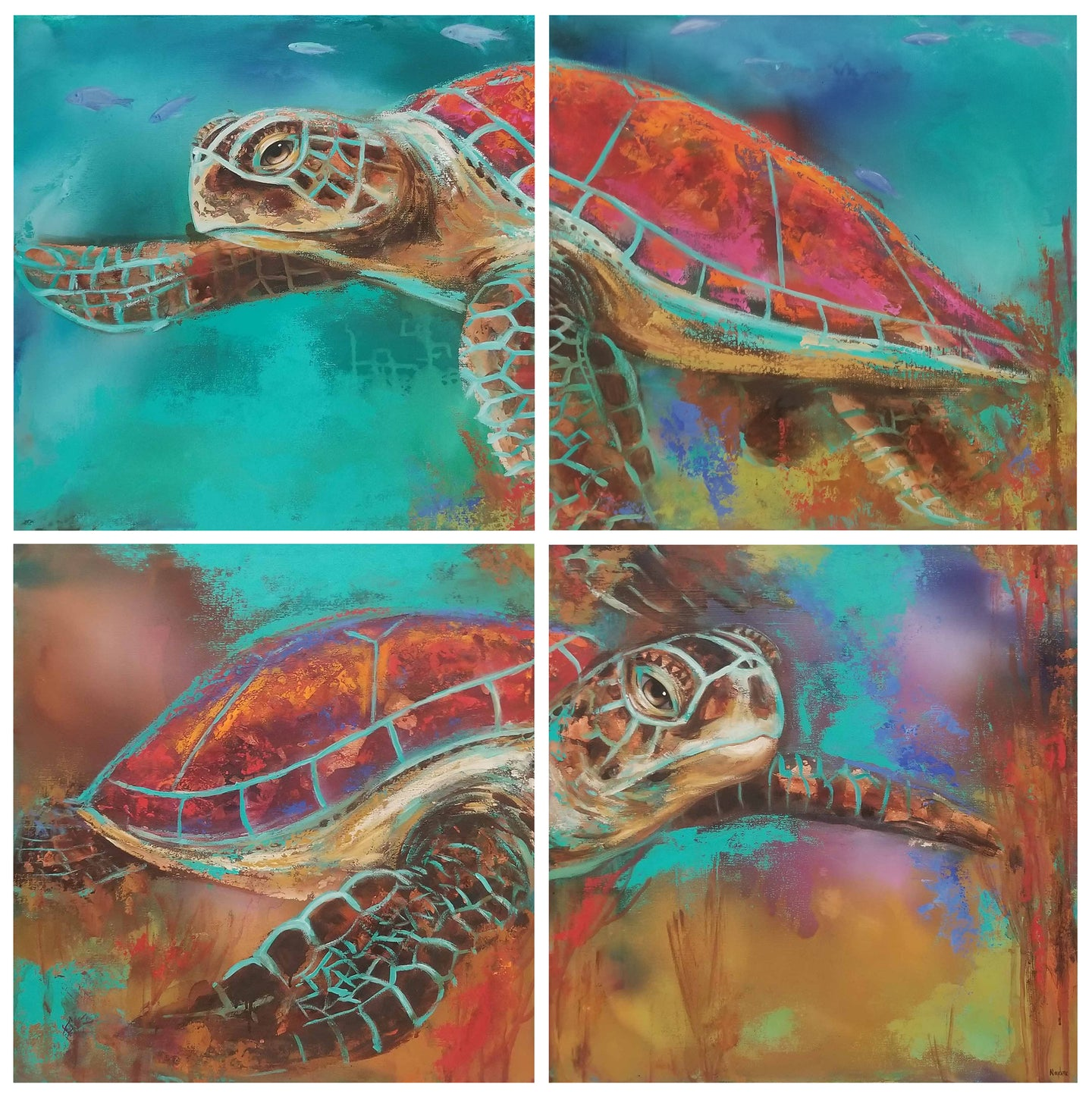 Two Turtles By Naydene Gonnella