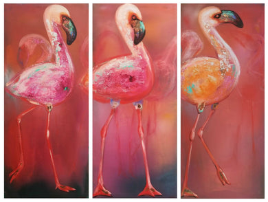 Flamingo Trio By Naydene Gonnella