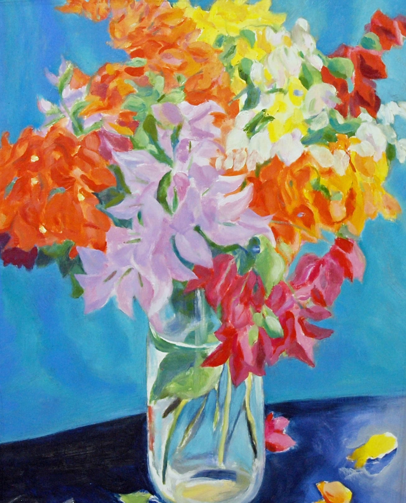 Rainbow Bougainvillea Bouquet By Sir Roland Richardson