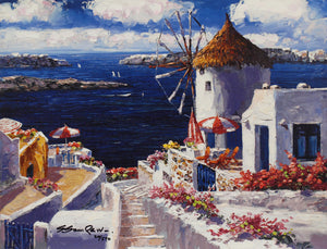 Windmill at Santorini By Sung Sam Park