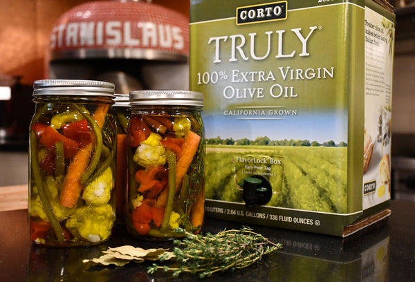Olive Oil Cured Vegetables