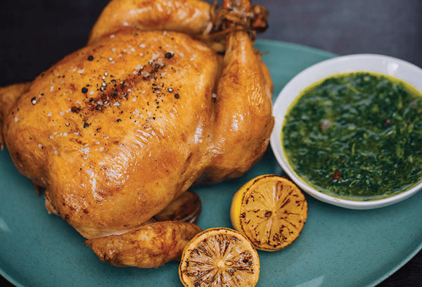 Roasted Chicken with Chimichurri Sauce