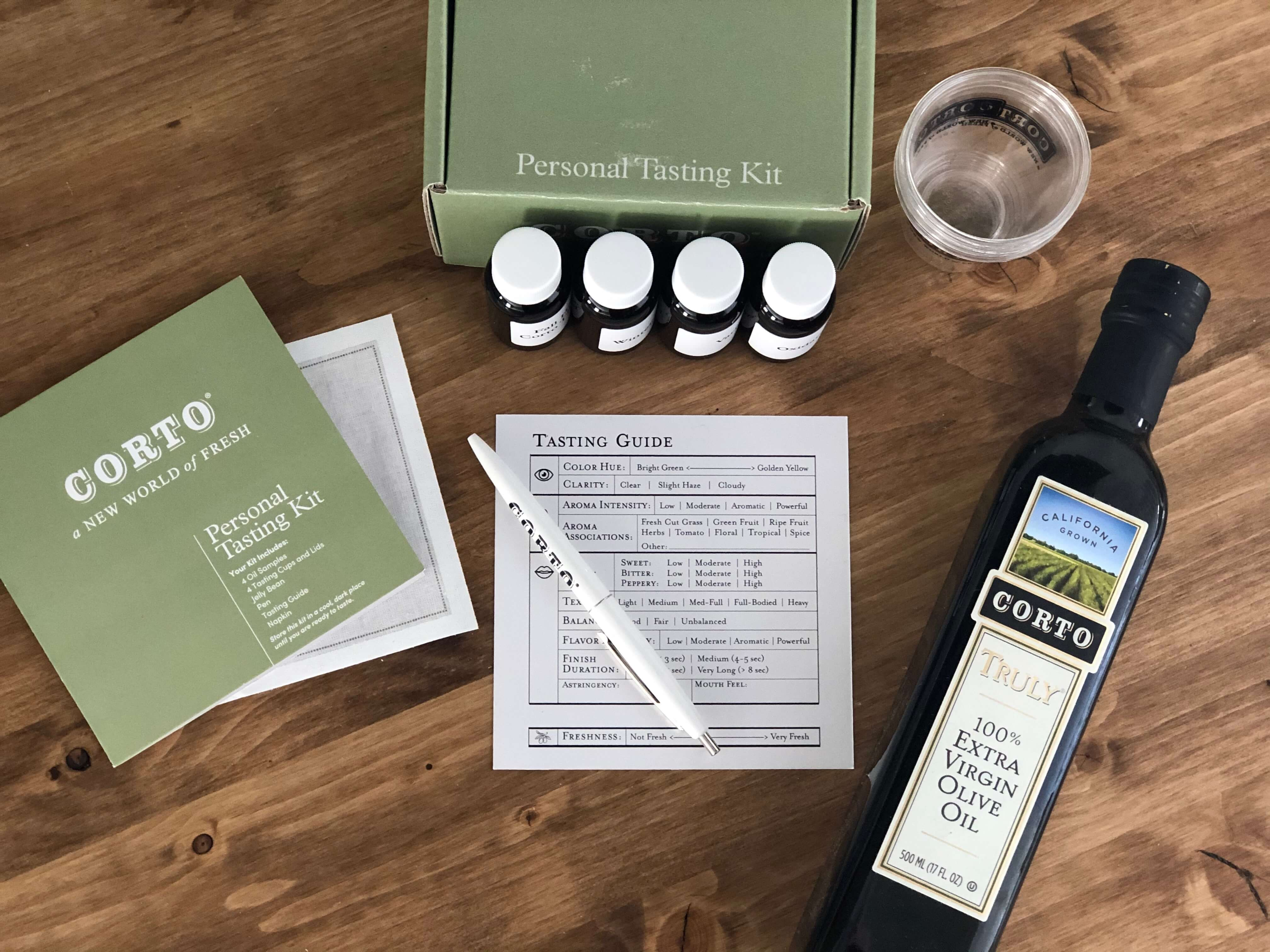 Corto Tasting Kit and Truly Bottle