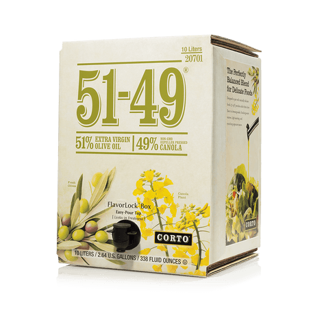 51-49® EVOO/ Canola Blend 10L FlavorLock Box Product