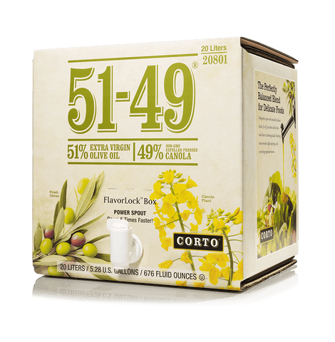 51-49® EVOO/ Canola Blend 20L FlavorLock Box Product