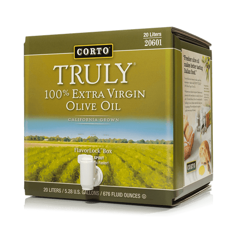 TRULY® 100% Extra Virgin Olive Oil 20L FlavorLock Box Product
