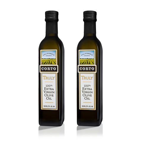 TRULY® 100% Extra Virgin Olive Oil 500mL Bottle 'Twin Pack' Product