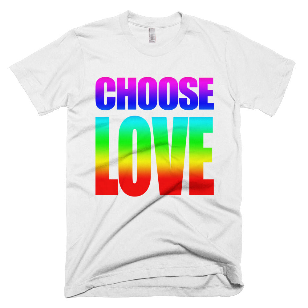 CHOOSE LOVE Tee // Rainbow