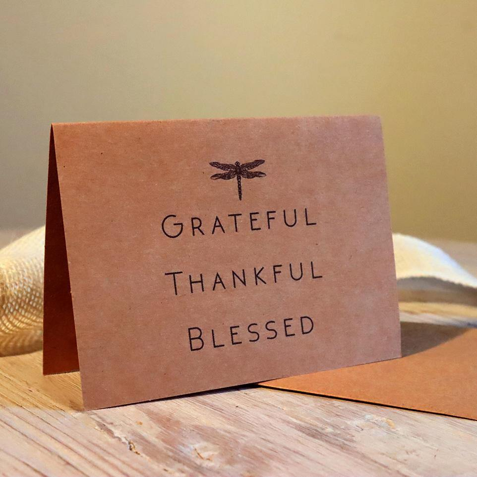 Greeting Card - Grateful - Thankful - Blessed - Alywillow