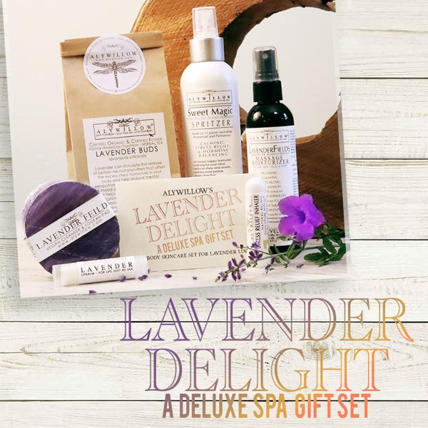 Lavender Delight Gift Set - especially for those who love lavender - Alywillow