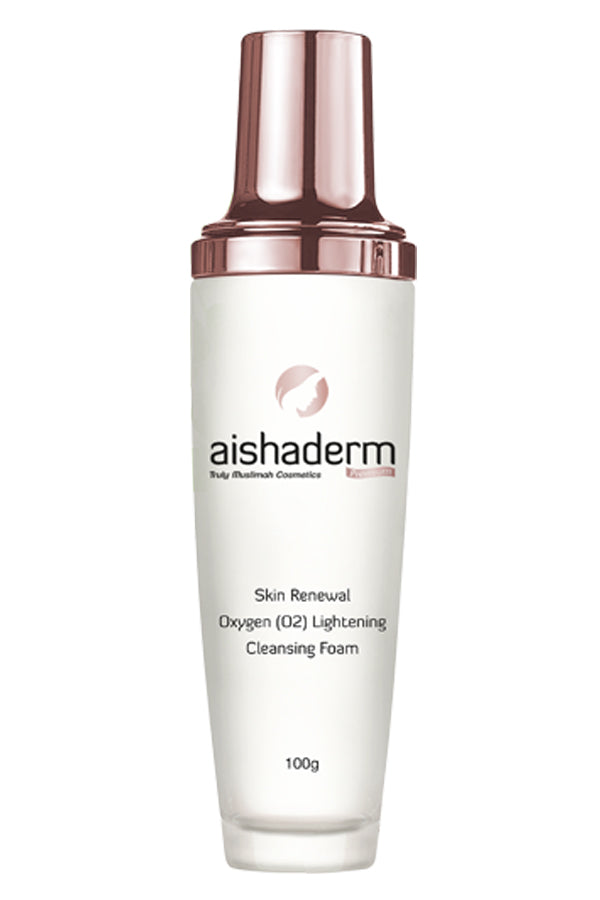 AISHADERM PREMIUM Moisturizing Oxygen (O2) Lightening Cleansing Foam