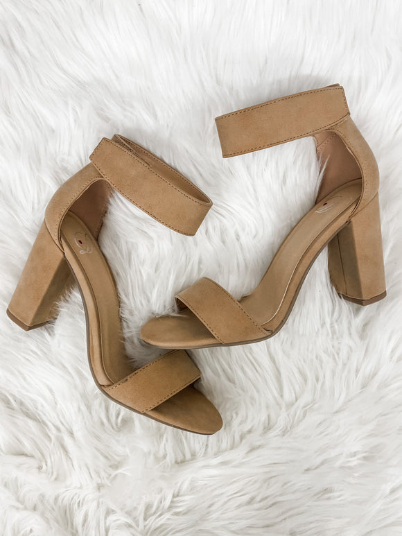Tan Elton Block Heel