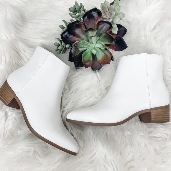 White Kimbo Booties