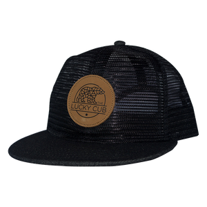 Black All Mesh Trucker
