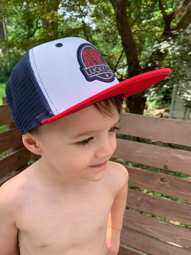 Red, White and Navy Snapback Hat