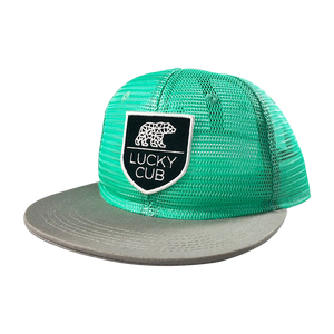Green Mesh Trucker Snapback Hat