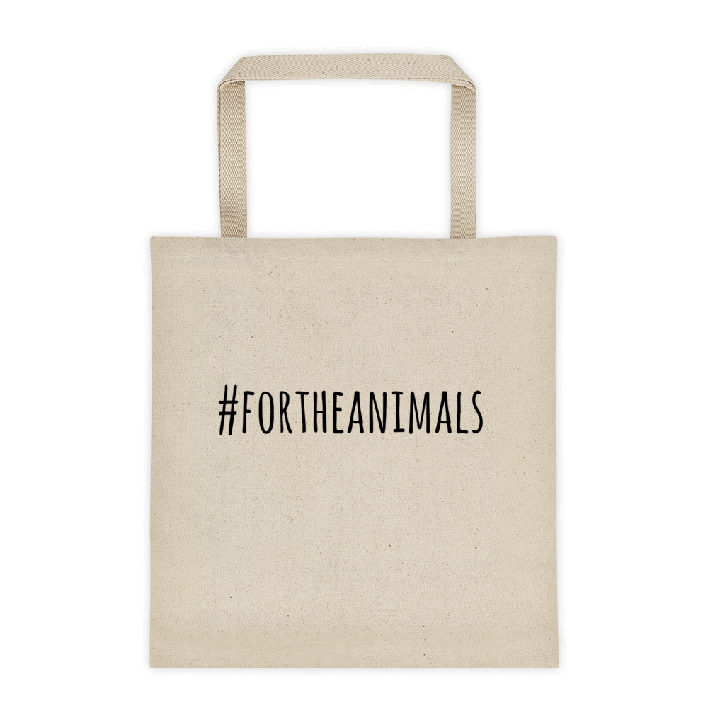 #ForTheAnimals canvas tote
