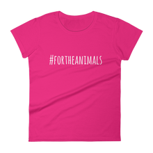 #ForTheAnimals tee, narrow cut