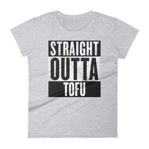 Straight Outta Tofu tee, narrow cut