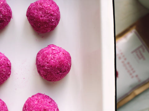 Truffes roses pitaya bio happy superfoods recette