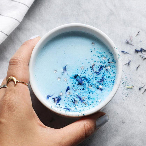 Unicorn bleue latte spiruline verte bleue my happy food