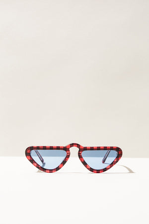 Unibrow Sunglasses - Lumberjack Plaid