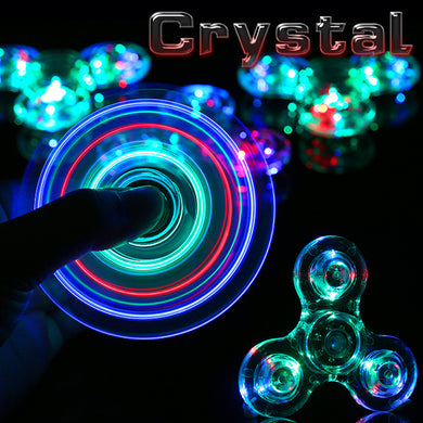 Crystal LED Clear Fidget Spinner