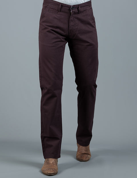 PETE 2 DARK BURGUNDY REGULAR FIT  CHINO