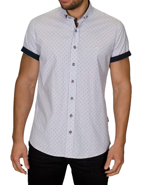 ASTRID SHORT SLEEVE GEO PRINT SHIRT