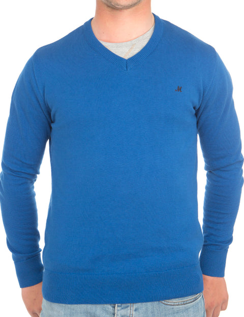 AZENHA COBALT V NECK COTTON