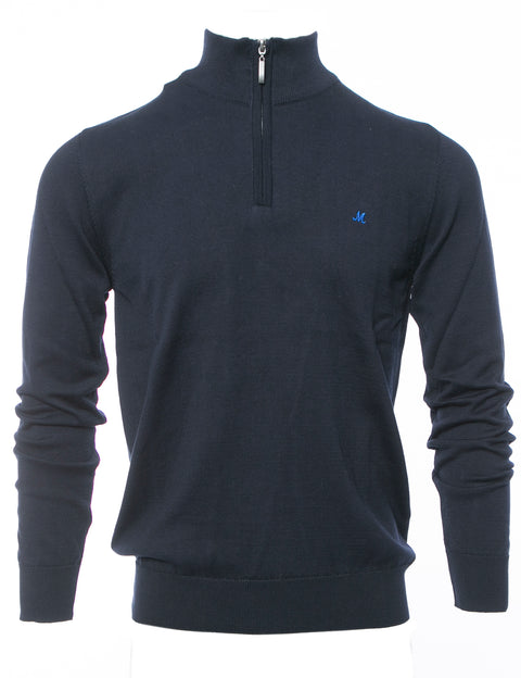 ALTIS NAVY QUARTER ZIP KNITWEAR