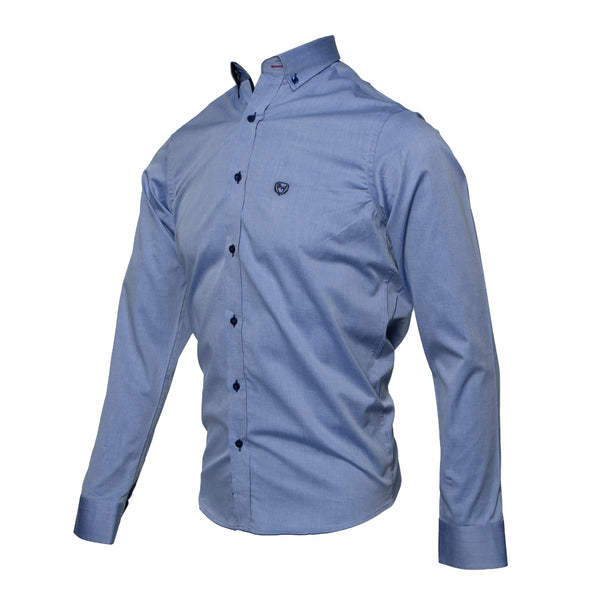 GAZ BLUE LONG SLEEVE OXFORD SHIRT