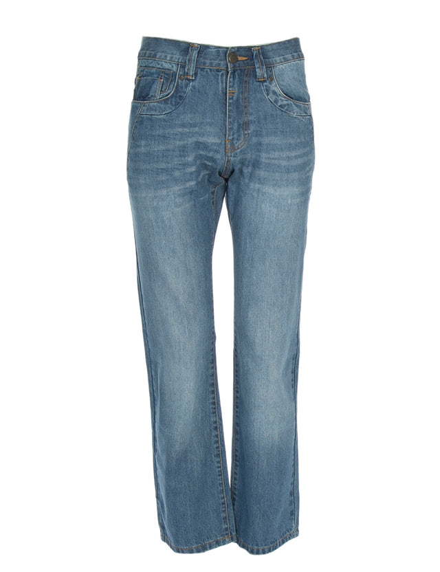 AARON BLUE WASH DENIM
