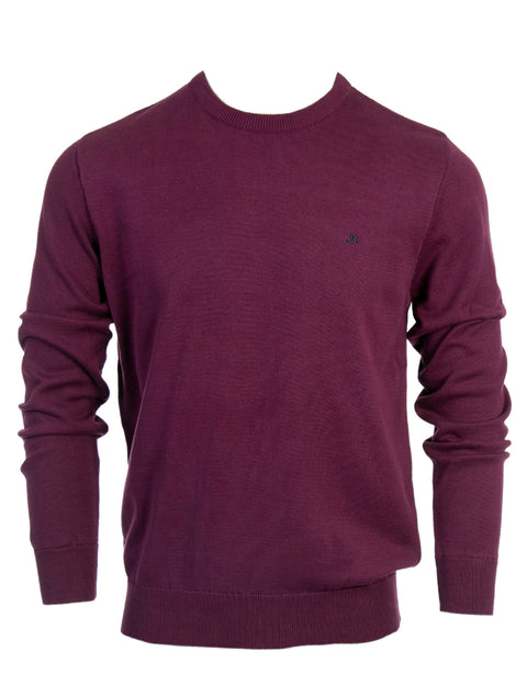 ARIANA AUBERGINE CREW KNIT COTTON