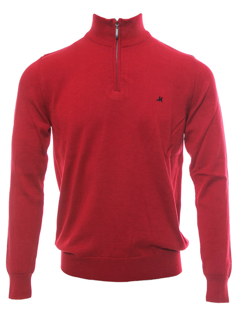 ALTIS CHERRY QUARTER ZIP  NECK KNIT