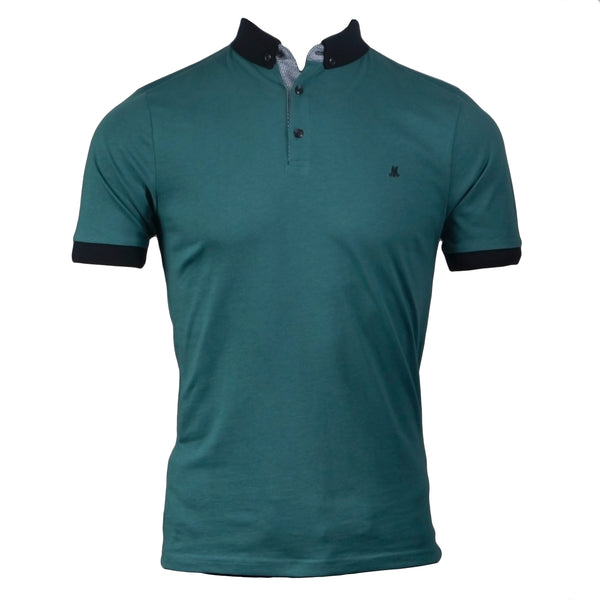 short sleeve polo tee in teal