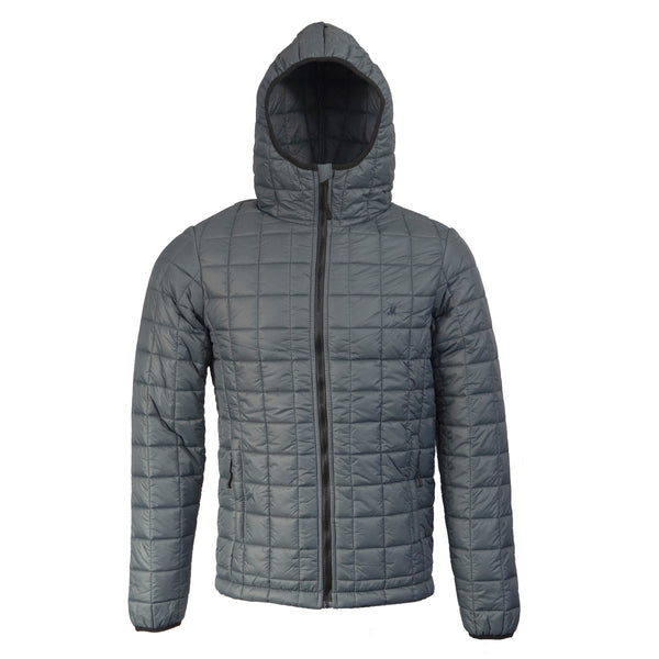 nylon padded hood jacket
