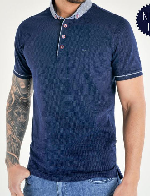 Sonet blue short sleeve polo
