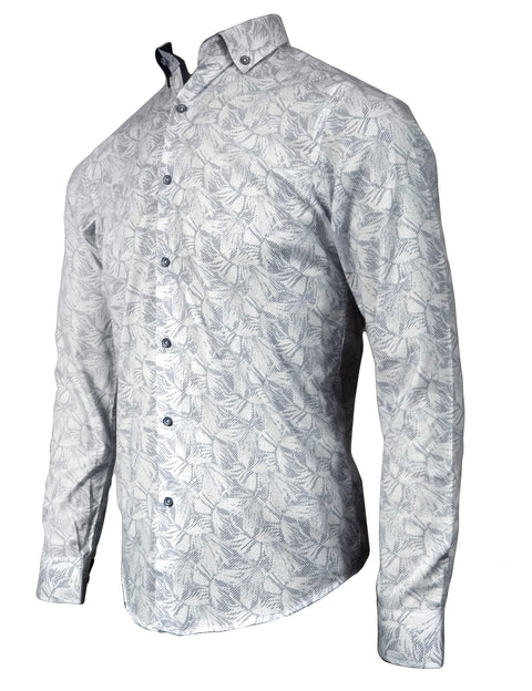 BISCAY WHITE/NAVY LONGSLEEVE SHIRT