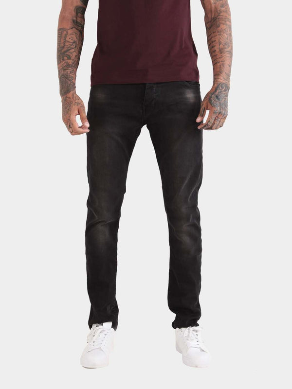 CASSADY BLACK WASH REGULAR STRETCH JEANS
