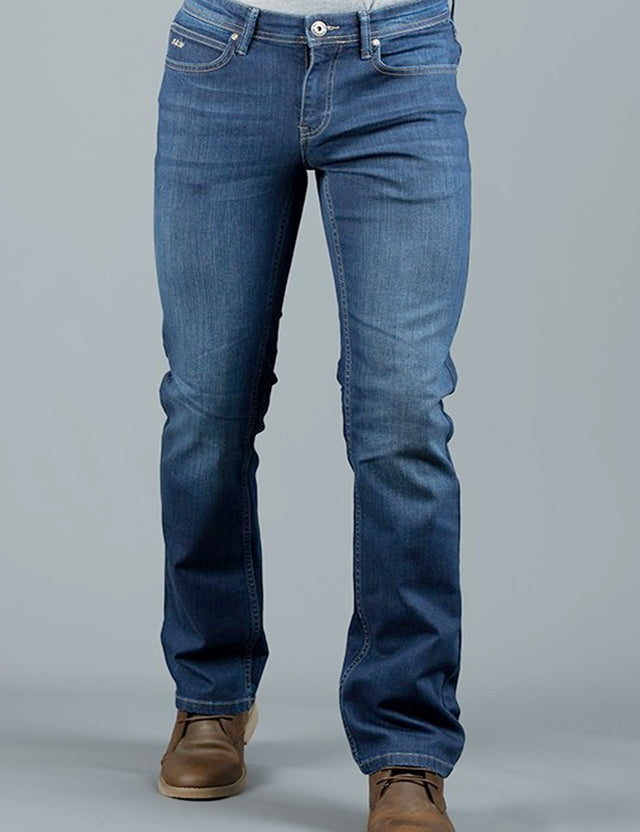 LAGONDA BOOT BLUE WASH JEAN