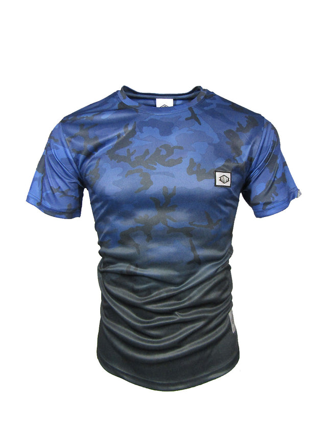 Offroad Camo Poly Tee Blue