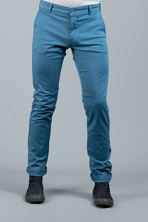 SPRINT OCEAN BLUE SLIM FIT STRETCH  CHINO (BUY ONE GET ONE FREE)