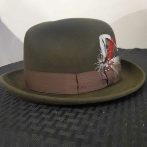 Chocolate Brown Homburg